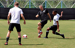 October 18, 2017 - Kolkata, West Bengal, India - Players of the German football team during a practice session ahead of FIFA U 17 World Cup India 2017 Quarter Final match on October 18, 2017 in Kolkata. (Credit Image: © Saikat Paul/Pacific Press via ZUMA Wire)