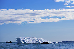 July 21, 2019 - Boats By Ice Berg Off Coast Of Nunavut, Canada (Credit Image: © Richard Wear/Design Pics via ZUMA Wire)