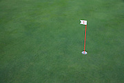 number one practice putting hole on a golf course