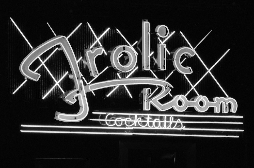 The Frolic Room Cocktails Bar on Hollywood Boulevard in Hollywood, CA. (USA)