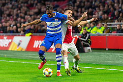 13-03-2019 NED: Ajax - PEC Zwolle, Amsterdam<br /> Ajax has booked an oppressive victory over PEC Zwolle without entertaining the public 2-1 / Kingsley Ehizibue #20 of PEC Zwolle, Dusan Tadic #10 of Ajax
