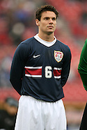 Heath Pearce, of the United States, as the U.S. debuts their new uniforms on Sunday, February 19th, 2005 at Pizza Hut Park in Frisco, Texas. The United States Men's National Team defeated Guatemala 4-0 in a men's international friendly.