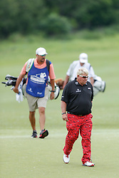 June 22, 2018 - Madison, WI, U.S. - MADISON, WI - JUNE 22: John Daly during the American Family Insurance Championship Champions Tour golf tournament on June 22, 2018 at University Ridge Golf Course in Madison, WI. (Photo by Lawrence Iles/Icon Sportswire) (Credit Image: © Lawrence Iles/Icon SMI via ZUMA Press)