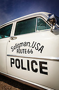 Police car on historic Route 66, Seligman, Arizona USA