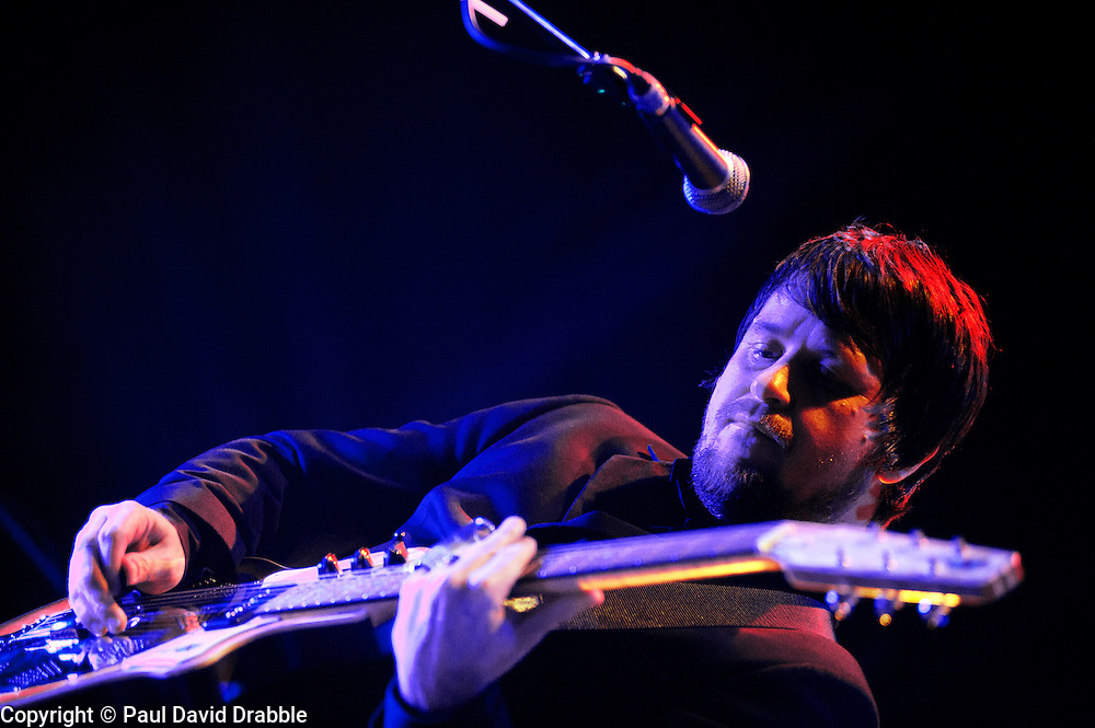 guitarist, Mark Potter Elbow at Sheffield Motorpoint Arena  .19 March 2011.Images © Paul David Drabble