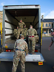 Pictured: Unpacking to be done after six months away.<br /> <br /> 2 SCOTS arriving home from Iraq deployment. OP Shader troops from The Royal Highland Fusiliers, 2nd Battalion The Royal Regiment of Scotland have been training local forces since December 2017. The troops have been training the local Iraqi forces for the last six months<br /> <br /> <br /> Ger Harley | EEm 19 June 2018