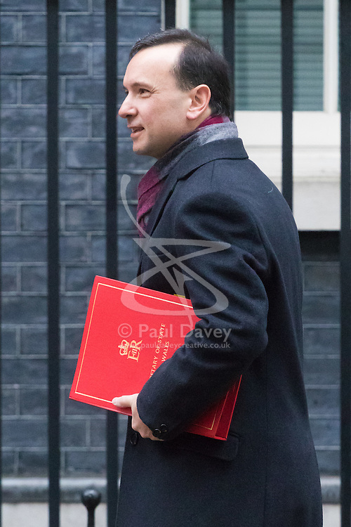 Downing Street, London, January 31 2017. Welsh Secretary Alun Cairns arrives at the weekly meeting of the UK cabinet.