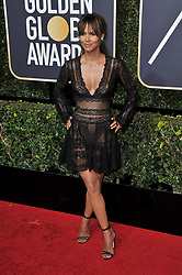 Halle Berry at the 75th Golden Globe Awards held at the Beverly Hilton in Beverly Hills, CA on January 7, 2018.<br /><br />(Photo by Sthanlee Mirador)