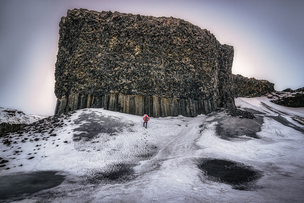 Basalt Wall in Iceland
