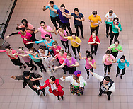 """Town of Wallkill, New York - Members of the cast of """"Mary Poppins"""" from Newburgh Free Academy perform at the Orange County Arts Council All-County High School Musical Showcase and Arts Display at the Galleria at Crystal Run on Feb. 28, 2015. The theme of the event was: """"Arts Build Confidence""""."""