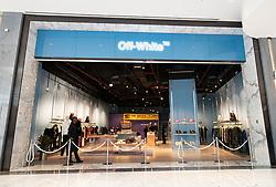 Off White boutique at Dubai Mall Fashion Avenue , Downtown Dubai, United Arab Emirates