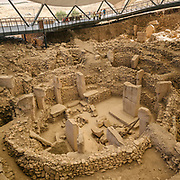Ruins of Göbekli Tepe, a stone-age mountain sanctuary. Carbon dated to be over 12.000 years old, it is the oldest known temple in the world.