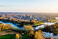 Nederland, Muiden,  20181213<br /> Luchtfoto omgeving Muiden.<br /> <br /> Foto (c) Michiel Wijnbergh