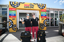 Soraya Senao Fernandez and Beatriz Gallego Carbajoregistering during the pre race events held at the V&A Waterfront in Cape Town prior to the start of the 2017 Absa Cape Epic Mountain Bike stage race held in the Western Cape, South Africa between the 19th March and the 26th March 2017<br /> <br /> Photo by Mark Sampson/Cape Epic/SPORTZPICS<br /> <br /> PLEASE ENSURE THE APPROPRIATE CREDIT IS GIVEN TO THE PHOTOGRAPHER AND SPORTZPICS ALONG WITH THE ABSA CAPE EPIC<br /> <br /> ace2016