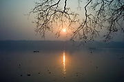 Sunrise over the Hooghly River, Chandannagar, India