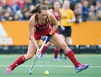 AMSTERDAM - Hockey - Giselle Ansley (GB)   Interland tussen de vrouwen van Nederland en Groot-Brittannië, in de Rabo Super Serie 2016 .  COPYRIGHT KOEN SUYK