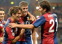 Fotball<br /> Italia<br /> Foto: Inside/Digitalsport<br /> NORWAY ONLY<br /> <br /> Hernan Crespo celebration for his 2-1 leading goal scored for Genoa.<br /> <br /> 24.09.2009<br /> Genoa v Juventus