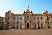 PERU, LIMA, ARCHITECTURE Government Palace, Plaza de Armas