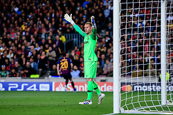 May 1, 2019 - Barcelona, BARCELONA, Spain - 01 Marc Andre Ter Stegen of FC Barcelona during the UEFA Champions League first leg match of Semi final between FC Barcelona and Liverpool FC in Camp Nou Stadium in Barcelona 01 of May of 2019, Spain. (Credit Image: © AFP7 via ZUMA Wire)