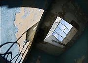 Looking upwards to a skylight