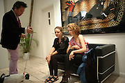 JIMMY HO WITH HIS DOG CALLED LAYLA ROSE; TANYA HAMILTON; TAMARA KOSTA, Exhibition of photographs by Ellen von Unworth. Michael Hoppen Gallery. Jubilee Place, Chelsea. London. 22 October 2009.