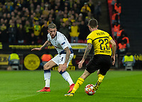 Football - 2018 / 2019 UEFA Champions League - Round of Sixteen, First Leg: Tottenham Hotspur vs. Borussia Dortmund<br /> <br /> Christian Pulisic (Borussia Dortmund) runs himself into a dead end as he takes on Toby Alderweireld (Tottenham FC) at Wembley Stadium.<br /> <br /> COLORSPORT/DANIEL BEARHAM