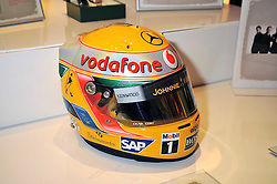 Lewis Hamilton's helmet at the F1 Party in aid of the Great Ormond Street Hospital Children's Charity held at the V&A, Londonon 17th June 2009.