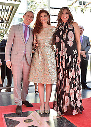 Debra Messing honored with star on the Hollywood Walk of Fame. 06 Oct 2017 Pictured: Max Mutchnick,Debra Messing,Mariska Hargitay. Photo credit: AXELLE/BAUER-GRIFFIN / MEGA TheMegaAgency.com +1 888 505 6342
