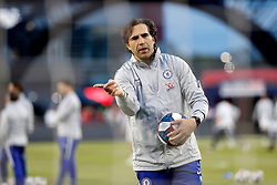 May 15, 2019 - Foxborough, MA, U.S. - FOXBOROUGH, MA - MAY 15: Chelsea goalkeeper coach Henrique Hilario directs his charges before the Final Whistle on Hate match between the New England Revolution and Chelsea Football Club on May 15, 2019, at Gillette Stadium in Foxborough, Massachusetts. (Photo by Fred Kfoury III/Icon Sportswire) (Credit Image: © Fred Kfoury Iii/Icon SMI via ZUMA Press)
