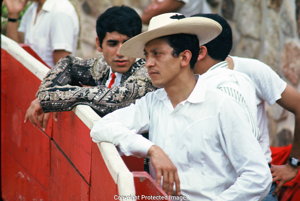 A Mexican bull fight in September 1967.<br />Photo by Dennis Brack bb72