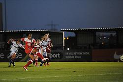 Jade Boho Sayo of Bristol Academy scores - Mandatory byline: Dougie Allward/JMP - 07966386802 - 27/08/2015 - FOOTBALL - Stoke Gifford Stadium -Bristol,England - Bristol Academy Women FC v Oxford United Women - FA WSL Continental Tyres Cup