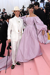 """Benedict Cumberbatch and Sophie Hunter at the 2019 Costume Institute Benefit Gala celebrating the opening of """"Camp: Notes on Fashion"""".<br />(The Metropolitan Museum of Art, NYC)"""