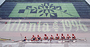 Atlanta, USA,  GBR W8+, (double Exposure), at the 1996, Olympic Rowing Regatta at Lake Lanier, Gainesville Georgia,  [Photo Peter Spurrier/Intersport Images]