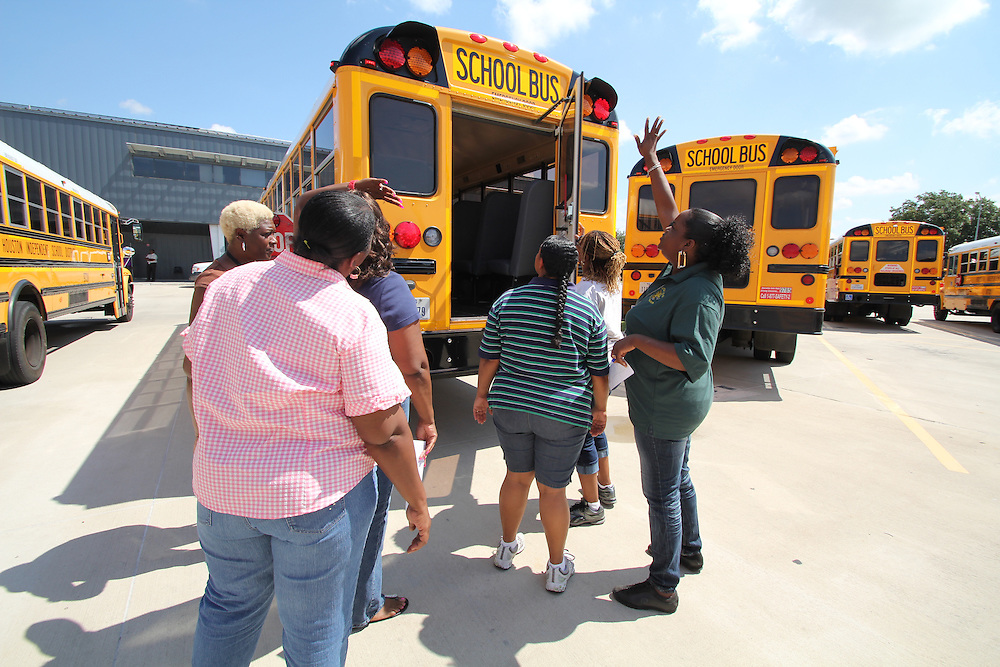 HISD School Bus Training on August 08, 2012.