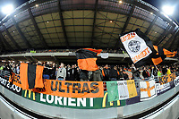 FOOTBALL - FRENCH CHAMPIONSHIP 2009/2010 - L1 - FC LORIENT v OLYMPIQUE LYONNAIS - 20/01/2010 - PHOTO PASCAL ALLEE / DPPI - LORIENT SUPPORTERS IN THE NEW TRIBUNE
