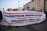 DEU, Deutschland, Germany, Berlin, 14.04.2018: Demonstration gegen steigende Mieten unter dem Motto Wiedersetzen - Gemeinsam gegen Verdrängung und Mietenwahnsinn. Protest gegen die Deutsche Wohnen.