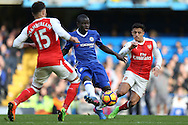 Ngolo Kante of Chelsea (c)  in action. Premier league match, Chelsea v Arsenal at Stamford Bridge in London on Saturday 4th February 2017.<br /> pic by John Patrick Fletcher, Andrew Orchard sports photography.
