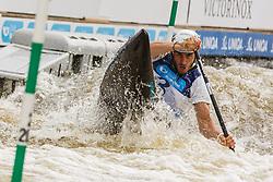 Tasiadis Sideris (GER) competes in Semi-Finals during Day 3 of 2018 ECA Kayak - Canoe Slalom European Championships, on June 3rd, 2018 in Troja , Prague, Czech Republic. Photo by Grega Valancic / Sportida