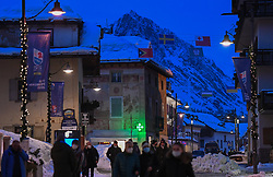 10.02.2021, Cortina, ITA, FIS Weltmeisterschaften Ski Alpin, Vorberichte, Die alpine Ski-Weltmeisterschaft findet von 8. bis 21. Februar 2021 in Cortina d'Ampezzo statt, im Bild Fußgängerzone Cortina // during preparations, the Alpine World Ski Championships will be held in Cortina d'Ampezzo from 8 to 21 February 2021, FIS Alpine Ski World Championships 2021 in Cortina, Italy on 2021/02/10. EXPA Pictures © 2021, PhotoCredit: EXPA/ Erich Spiess