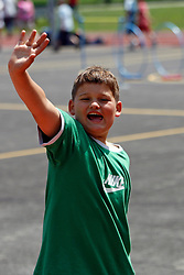 A boy on the playing court.   (Photo by: Vid Ponikvar / Sportal Images).