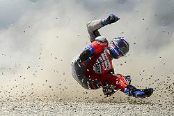 June 17, 2018 - Barcelona, Catalonia, Spain - Ducati Team rider ANDREA DOVIZIOSO of Italy, crashes during the Catalunya Motorcycle Grand Prix, at Circuit de Catalunya. (Credit Image: © Joan Cros/NurPhoto via ZUMA Press)