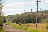 Photo Randy Vanderveen<br /> Dawson Creek BC2020-08-26<br /> Wind turbines on Dawson Creek Bear Mountain Wind Park produce electricity for the region. The 102 megawatt wind farm first started producing electricity in 2009.