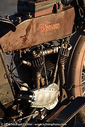 The oldest Motorcycle Cannonball rider on the earliest bike - Victor Boocock's 1914 Harley-Davidson during Stage 11 (289 miles) of the Motorcycle Cannonball Cross-Country Endurance Run, which on this day ran from Grand Junction, CO to Springville, UT., USA. Tuesday, September 16, 2014.  Photography ©2014 Michael Lichter.
