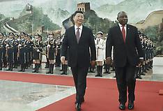 Xi Jingping meeting with South African President Ramaphosa in Beijing - 2 Sep 2018