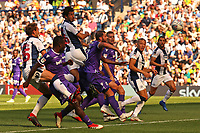 West Bromwich Albion's Ahmed Hegazy aims a header towards goal<br /> <br /> Photographer David Shipman/CameraSport<br /> <br /> The EFL Sky Bet Championship - West Bromwich Albion v Stoke City - Saturday September 1st 2018 - The Hawthorns - West Bromwich<br /> <br /> World Copyright © 2018 CameraSport. All rights reserved. 43 Linden Ave. Countesthorpe. Leicester. England. LE8 5PG - Tel: +44 (0) 116 277 4147 - admin@camerasport.com - www.camerasport.com