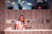 Theatre Rive Gauche. Paris, France. 24 Juin 2009. .Caroline Bourg..La Salle de Bain, une comedie de Astrid Veillon..Avec Katia Tchenko, Caroline Bourg, Valentine Feau, Fabienne Mahe et Lilly-Fleur Pointeaux..Mise en scene de Jean-Pierre Dravel et Olivier Mace.