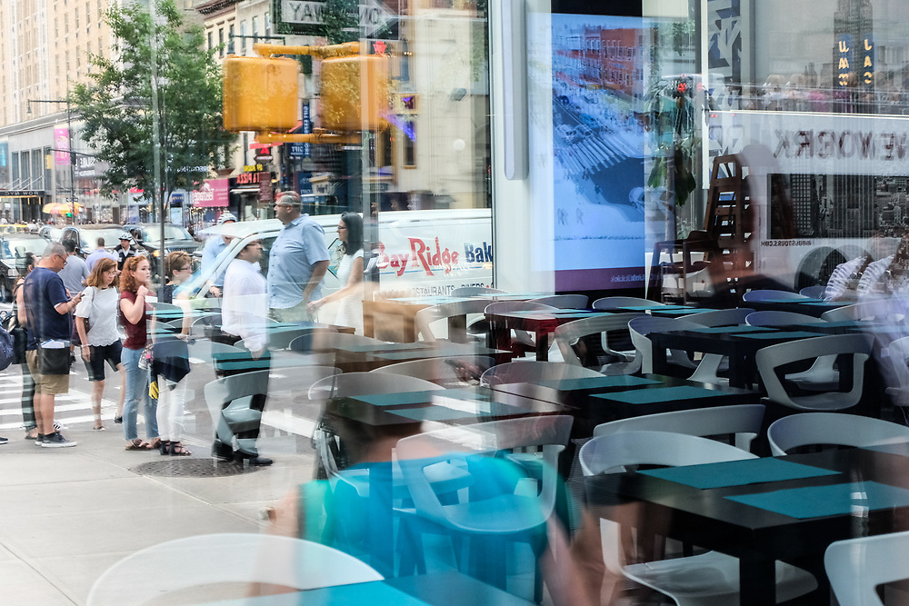 Store window reflections NYC