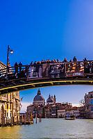 Ponte dell'Accademia (bridge) over the Grand Canal, Venice, Italy.