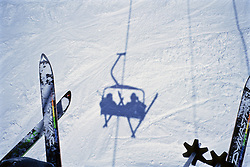 Skiis & Shadow From Chair Lift
