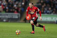 Wayne Rooney of Manchester Utd in action.   Premier league match, Swansea city v Manchester Utd at the Liberty Stadium in Swansea, South Wales on Sunday 6th November 2016.<br /> pic by  Andrew Orchard, Andrew Orchard sports photography.